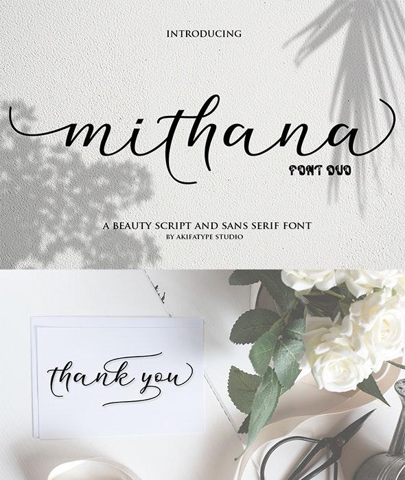 Mithana Font Duo - Fonts