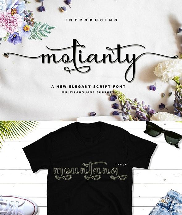 Molianty Script - Script Fonts