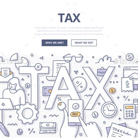 Tax Doodle Concept