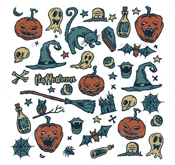 Halloween Pattern - Halloween Seasons/Holidays