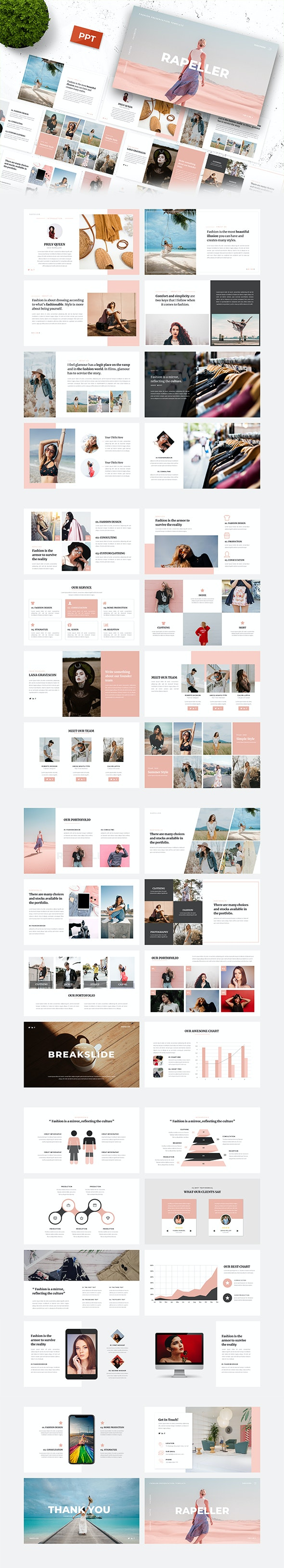 Rapeller - Fashion PowerPoint Template - Creative PowerPoint Templates