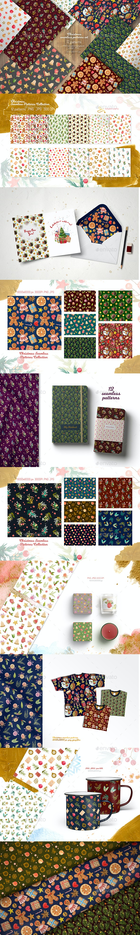 Christmas Seamless Patterns Collection - Patterns Backgrounds