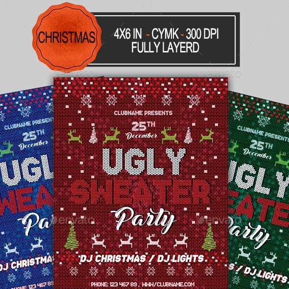 Ugly Sweater Christmas Flyer