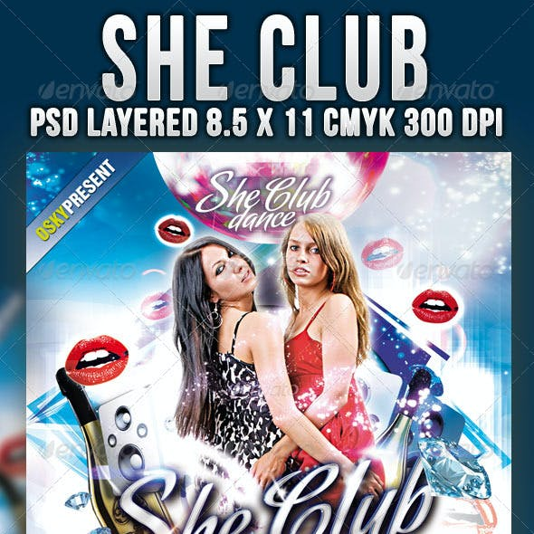 She Club Flyer
