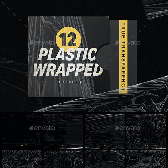 12 Plastic Wrapped Textures