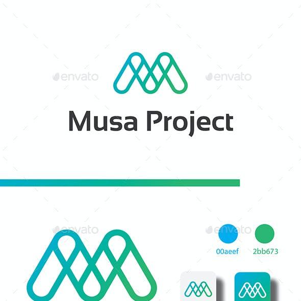 Modern M Letter Logo