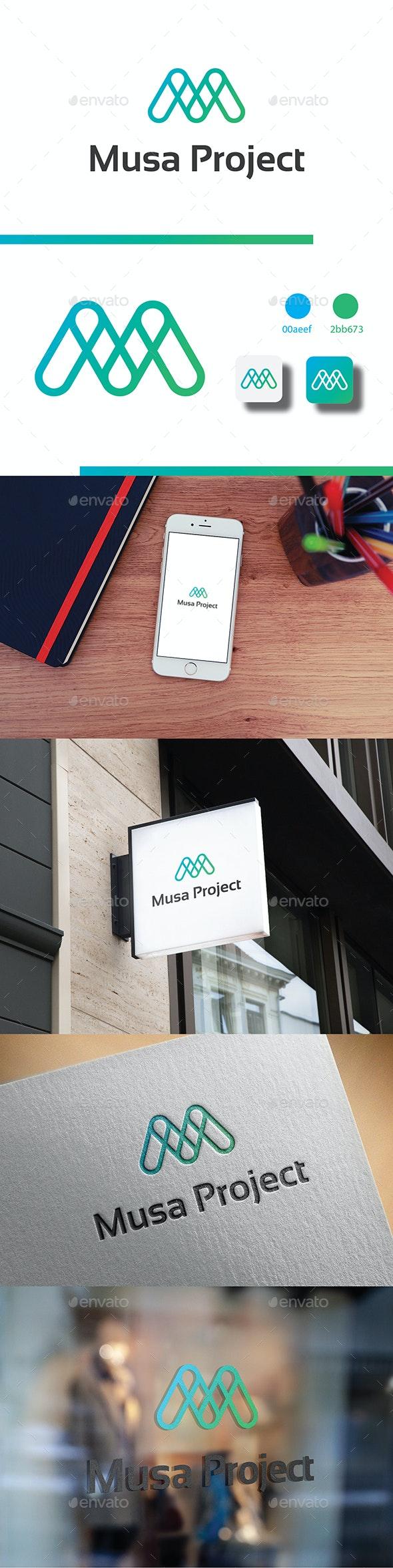 Modern M Letter Logo - Letters Logo Templates