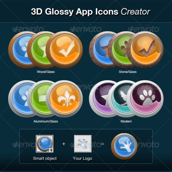 3D Glossy App Icons Creator