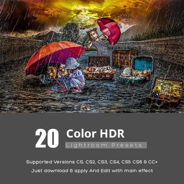 20 Color HDR Lightroom Presets