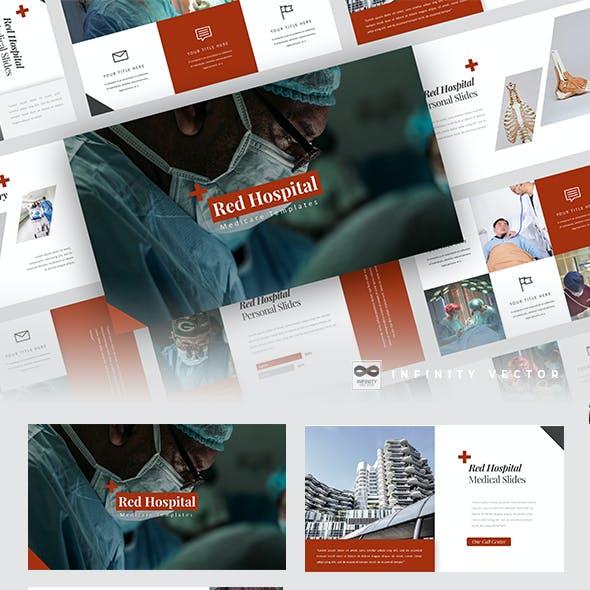 Red Hospital Medical Google Slides