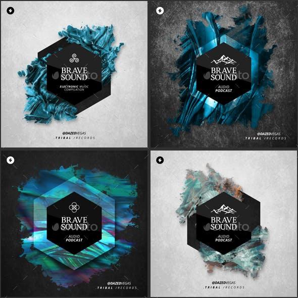 Brave Sound - Music Album Cover Artwork Templates