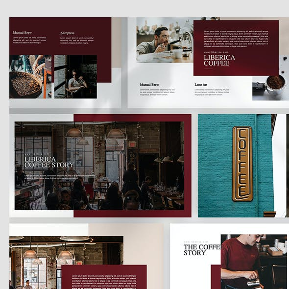 Liberica Coffee Keynote Template