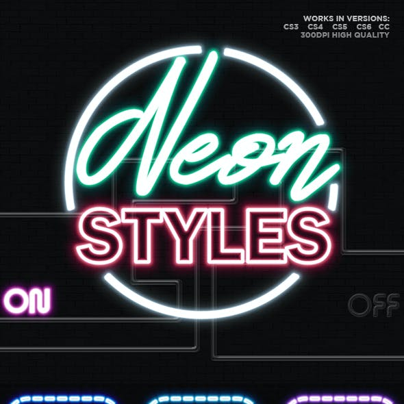 25 Neon Layer Styles