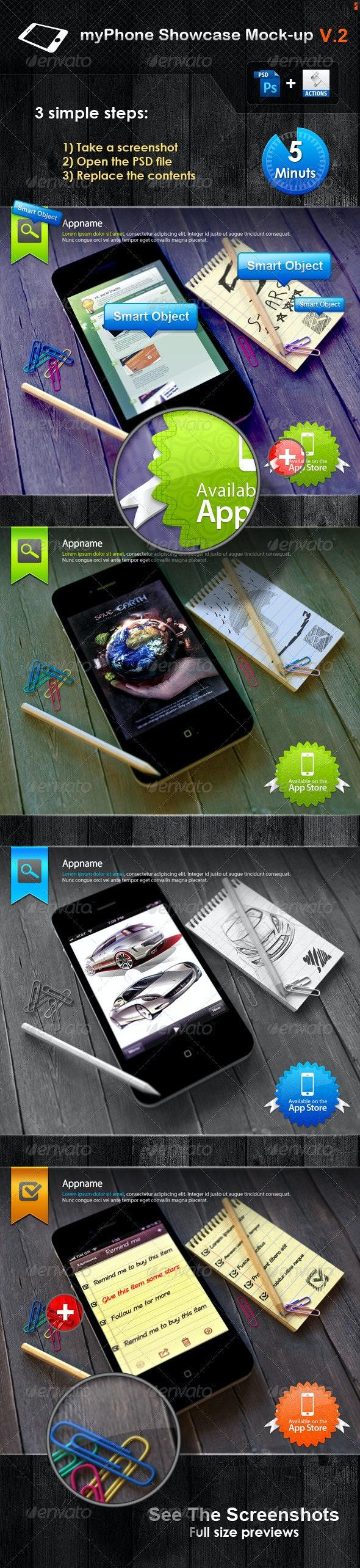 myPhone Showcase Mock-up V.2 - Mobile Displays