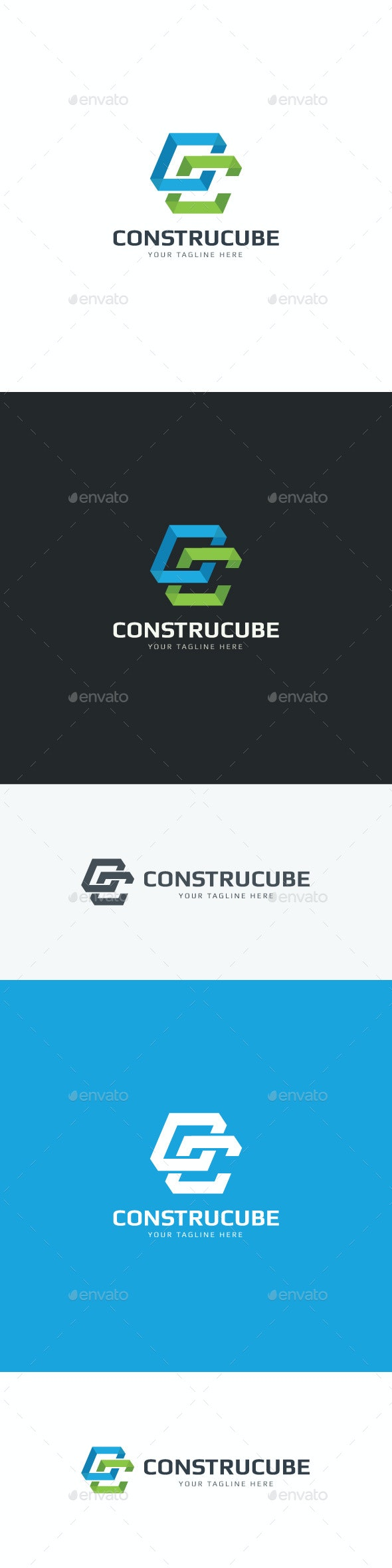 Construct Cube Logo - Letters Logo Templates