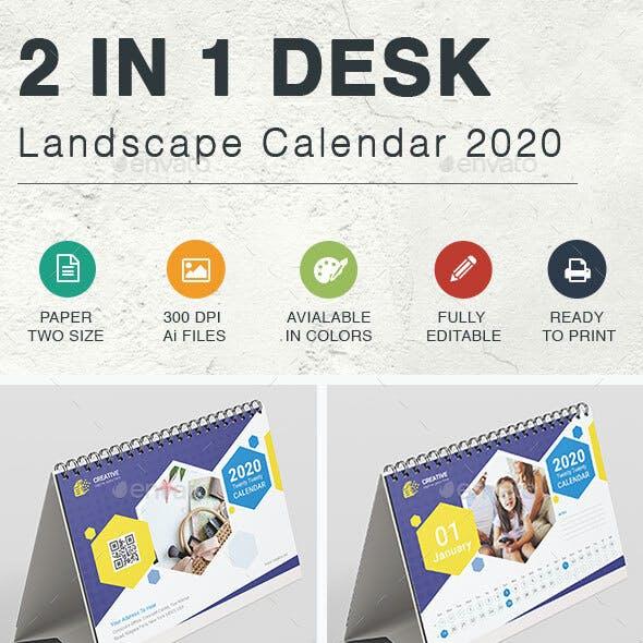 Desk & Landscape Calendar 2020