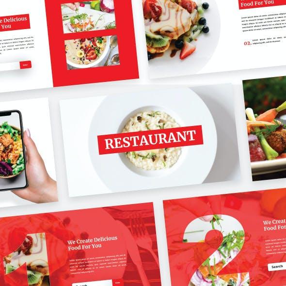 Restaurant - Food Google Slide Template