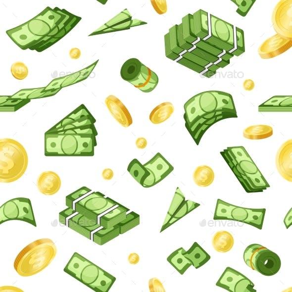 Money Vector Seamless Pattern