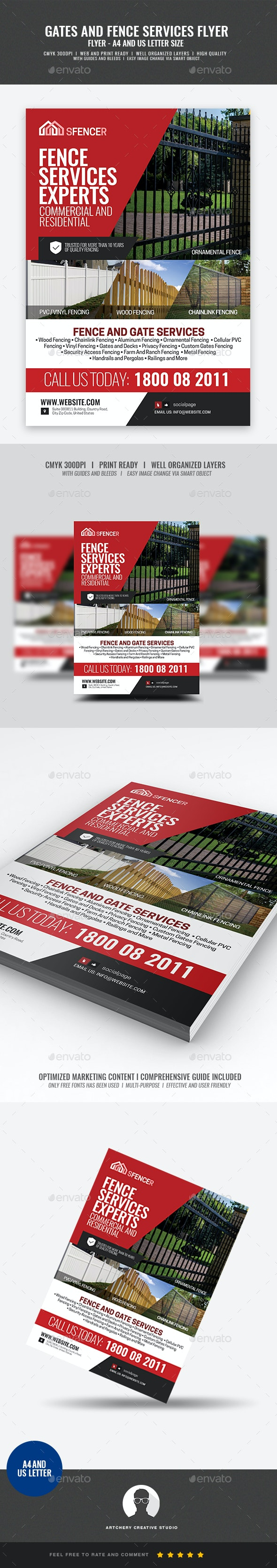 Fencing Company Flyer - Corporate Flyers
