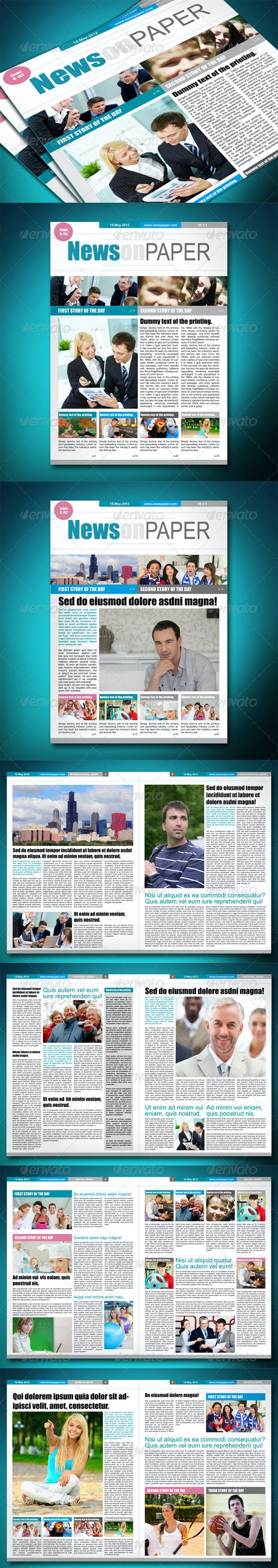 Newspaper Template - Newsletters Print Templates