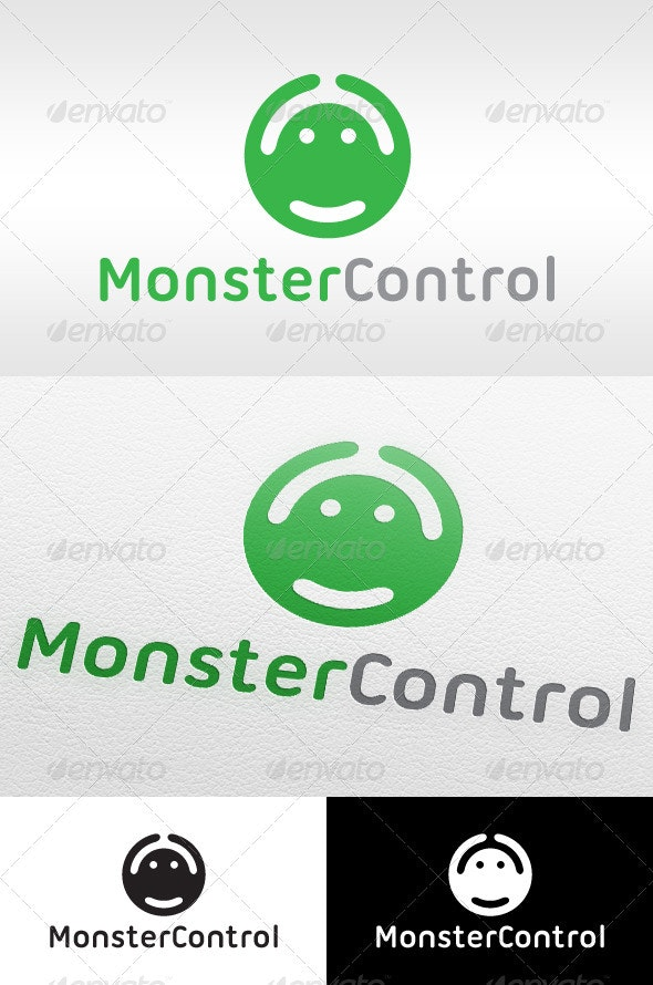 Monster Control Gaming - Logo Template - Vector Abstract
