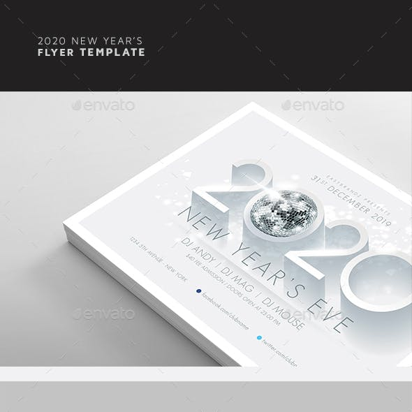 2020 New Year's Flyer Template