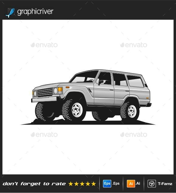 Off Road Car Vector Illustration - Man-made Objects Objects