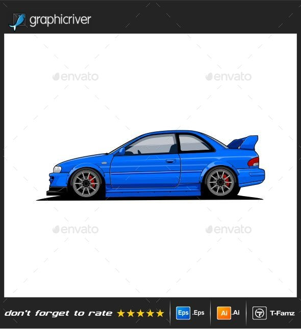 Car Vector Illustration - Man-made Objects Objects