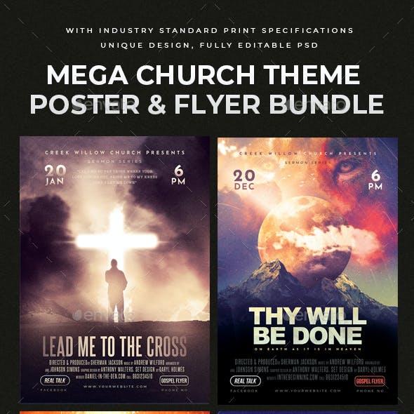 Church Flyer & Poster Bundle 6 in 1