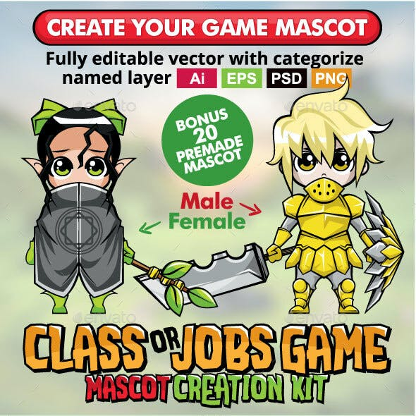 Class or Jobs Game Mascot Creation Kit
