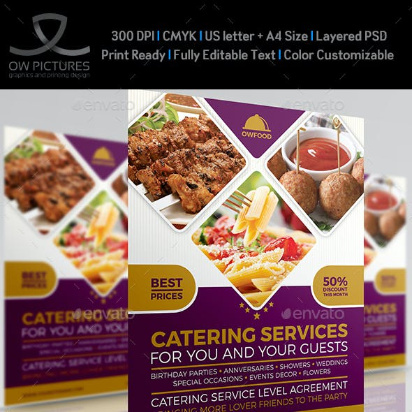 Catering Food Services Flyer Template