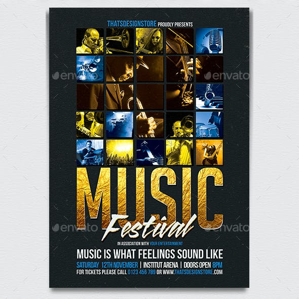 Music Festival Flyer Template V1