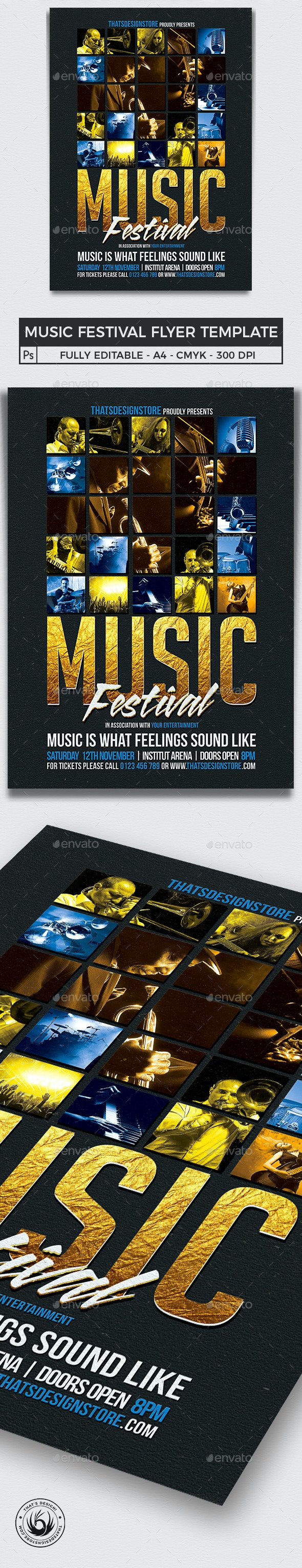 Music Festival Flyer Template V1 - Concerts Events
