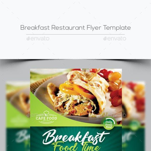 Breakfast Restaurant Flyer