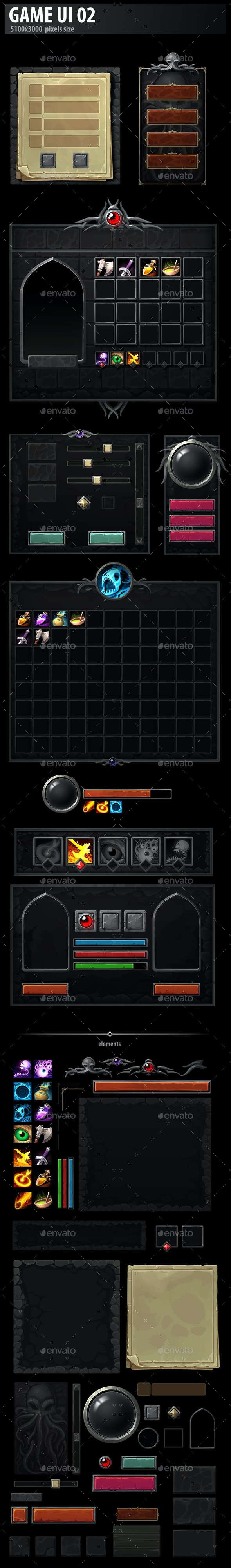 Game UI 02 - User Interfaces Game Assets
