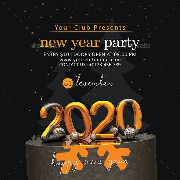 2020 New Year Flyer Template (Version 1)