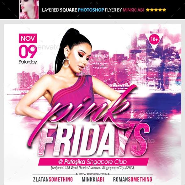 Pink Fridays Flyer