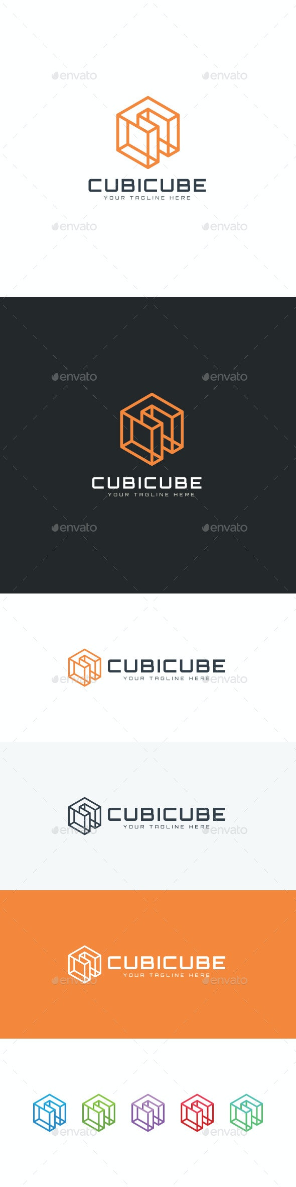 Cubic Cube Logo - 3d Abstract