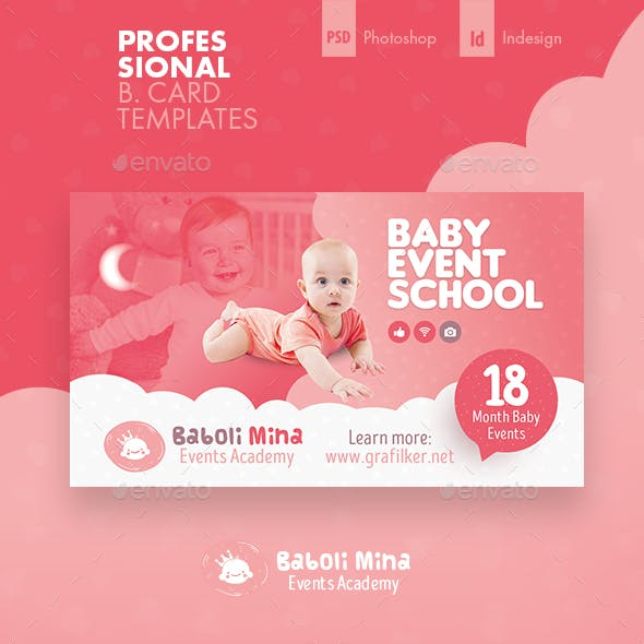 Baby Event Business Card Templates