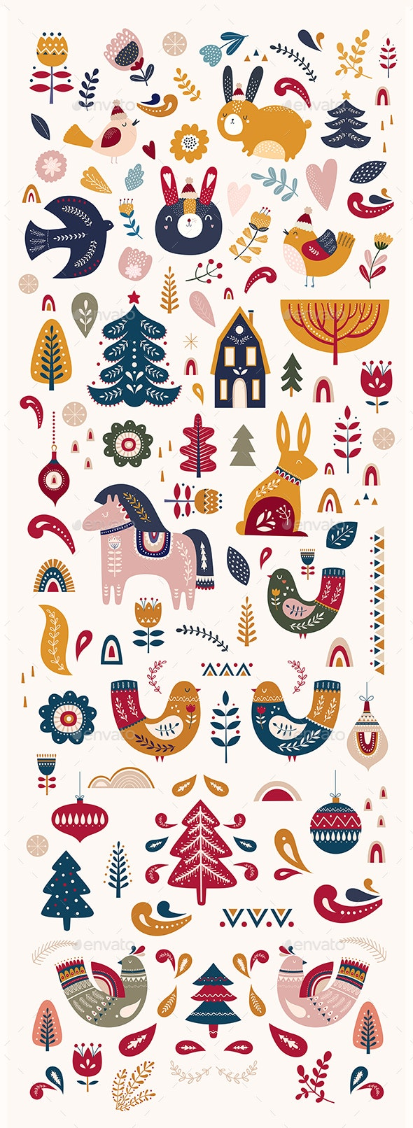 Scandinavian Christmas Collection - Christmas Seasons/Holidays
