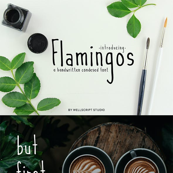 Flamingos - A Handwritten Condensed Font