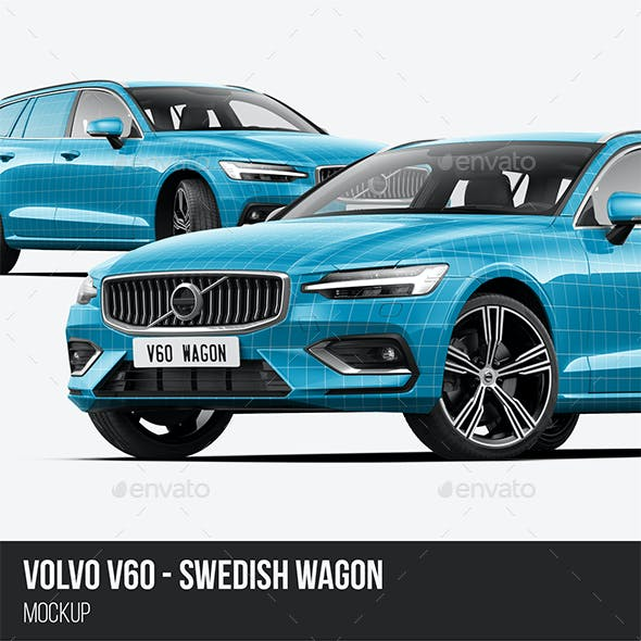 V60 Swedish Station Wagon Mockup