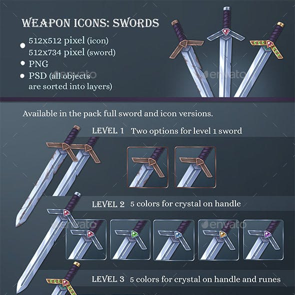 Weapons Icons: Sword
