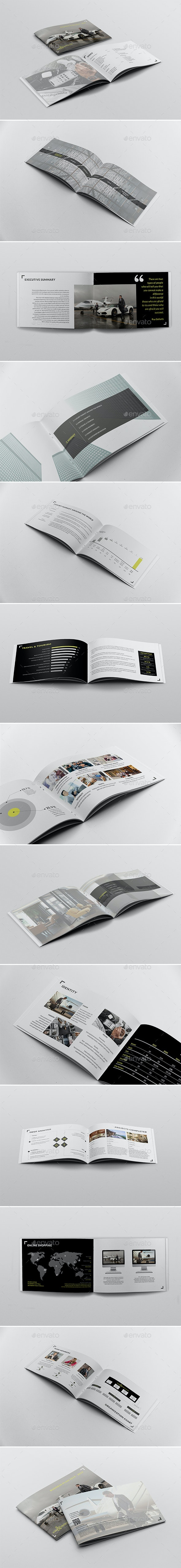 Business Plan Template - Brochures Print Templates