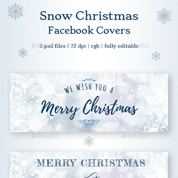 Snow Christmas Facebook Covers