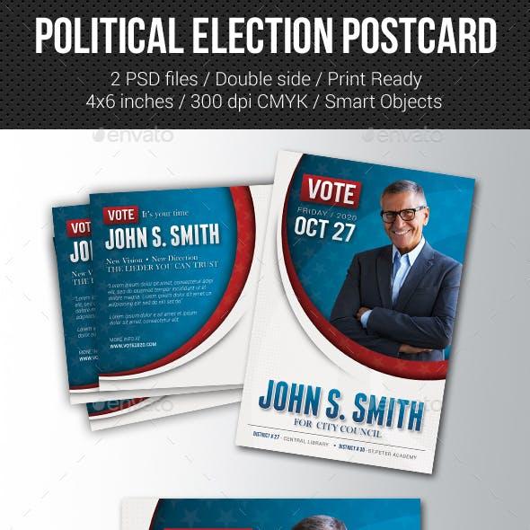 Political Election Mailer Postcard v3