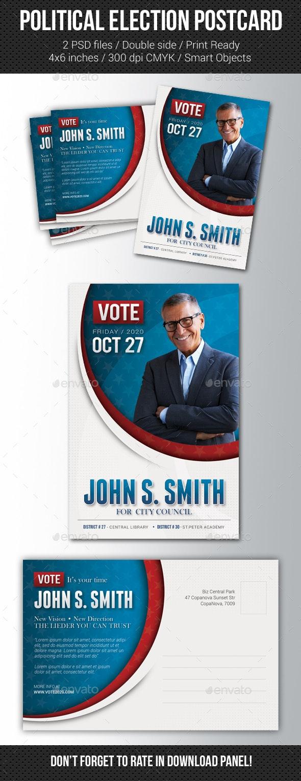 Political Election Mailer Postcard v3 - Cards & Invites Print Templates