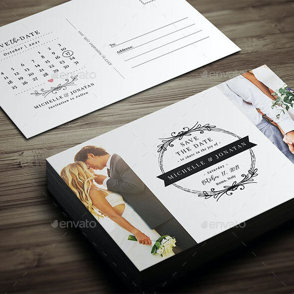 Save The Date Postcard Template