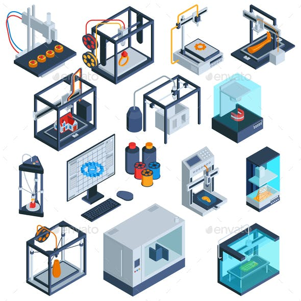 3D Print Isometric Collection