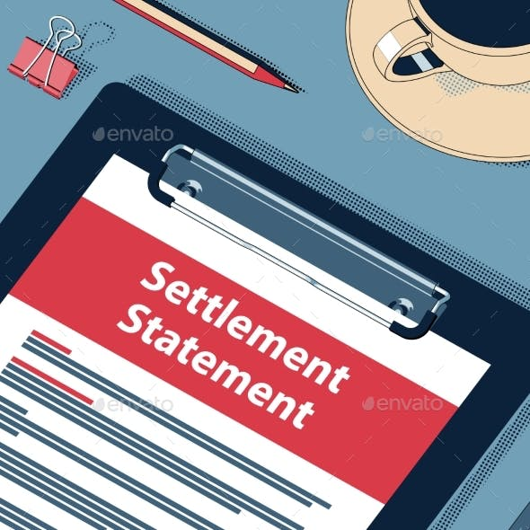 Settlement Statement Form - Vector Halftone